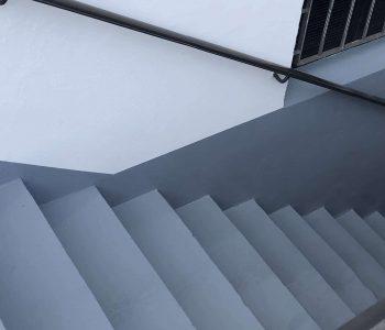 Bodenbeschichtung Außeneingang Kellertreppe